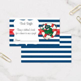 Cartão De Visitas Raffle náutico bonito do livro do chá de fraldas