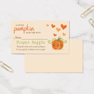 Cartão De Visitas Raffle pequeno bonito da fralda do chá de fraldas