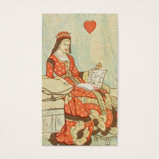 Cartão De Visitas Rainha do vintage da pintura dos corações