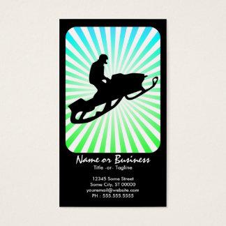 Cartão De Visitas raios retros do snowmobile