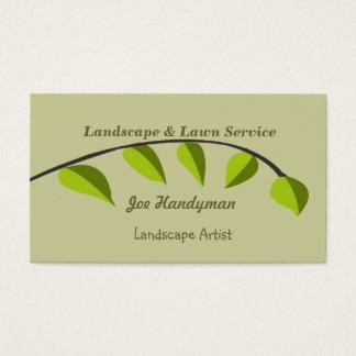 Cartão De Visitas Ramo   de árvore verde orgânico