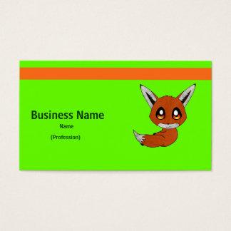 Cartão De Visitas raposa bonito