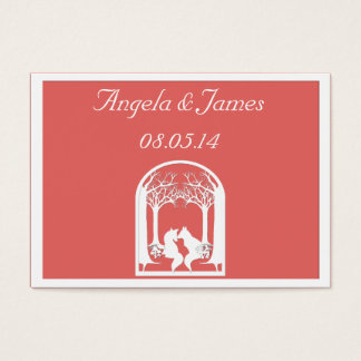 Cartão De Visitas Raposas de papel em Pimenta de Caiena