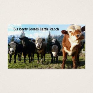 Cartão De Visitas Rebanho de gado na fazenda do país
