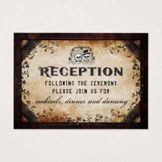 Cartão De Visitas Recepção de harmonização gótico de esqueleto do