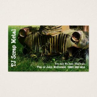 Cartão De Visitas Reciclagem da sucata & recolhimento de lixo