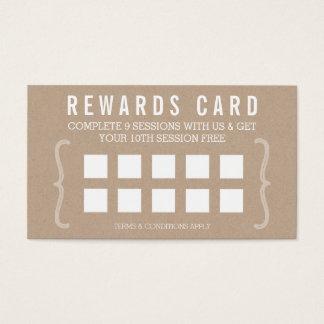 Cartão De Visitas RECOMPENSE o texto simples kraft na moda mínimo do