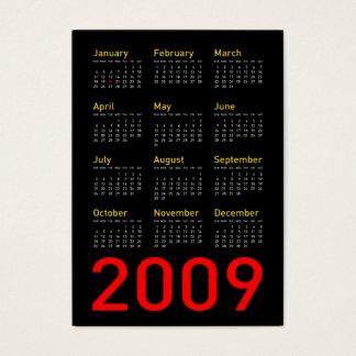 Cartão De Visitas Recordações de Obama - calendário de 2009 bolsos