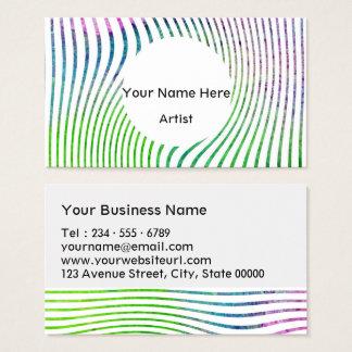 Cartão De Visitas Redemoinho colorido da listra da aguarela