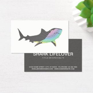 Cartão De Visitas Redemoinho do tubarão da cor