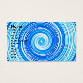 Cartão De Visitas Redemoinhos azuis