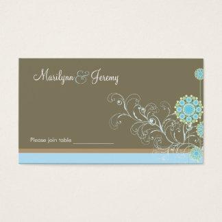 Cartão De Visitas Redemoinhos azuis elegantes da flor da neve que