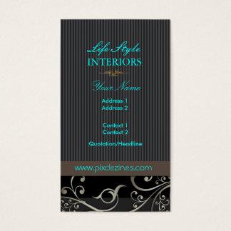 Cartão De Visitas Redemoinhos do Ornamental de PixDezines+riscas/cor