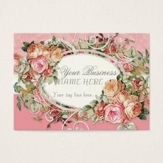 Cartão De Visitas Redemoinhos modernos antigos do buquê floral dos