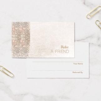 Cartão De Visitas Referência de mármore branca escovada Sequin do