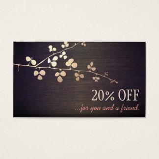 Cartão De Visitas Referência elegante do cliente do salão de beleza