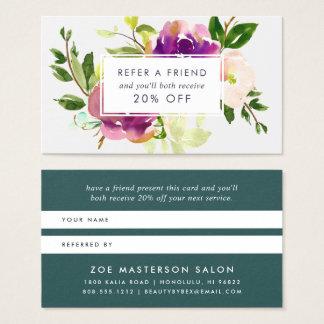 Cartão De Visitas Referência vibrante da flor |