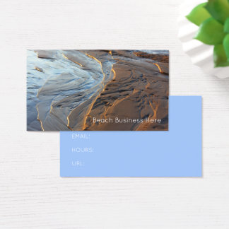 Cartão De Visitas Reflexões do oceano da areia do mar da linha