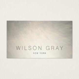 Cartão De Visitas Refrigere industrial chique moderno de prata