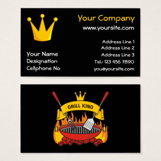 Cartão De Visitas Rei da grade