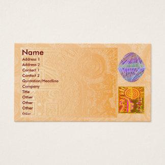 Cartão De Visitas REIKI Practioner - cristais do roxo do símbolo n