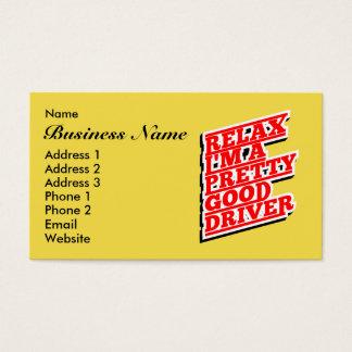 Cartão De Visitas Relaxe-me são um relativamente bom motorista