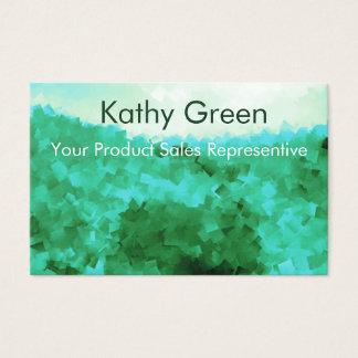 Cartão De Visitas Representante tranquilo da pessoa das vendas do