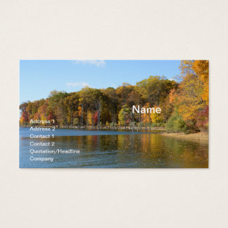 Cartão De Visitas Reservatório da angra de Merrill em Washington,