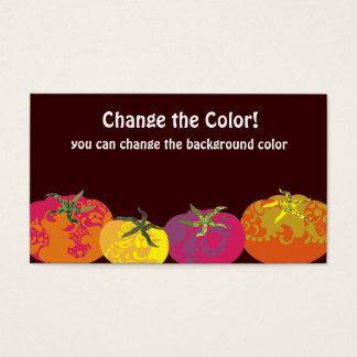 Cartão De Visitas Restauração colorida decorativa do cozinheiro