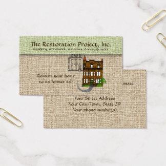 Cartão De Visitas Restauração profissional, preservação, alvenaria