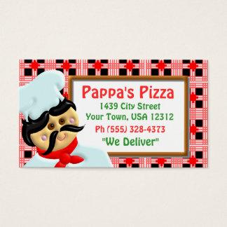 Cartão De Visitas Restaurante da pizza
