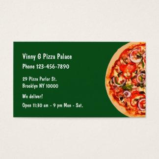 Cartão De Visitas Restaurante da sala de estar de pizza