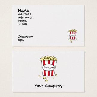 Cartão De Visitas Restaurante do comensal da pipoca do cinema do