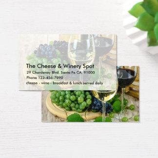 Cartão De Visitas Restaurante do queijo e do vinho