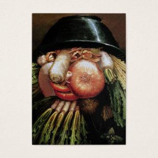 Cartão De Visitas Restaurante do vegetariano, fazenda orgânica,
