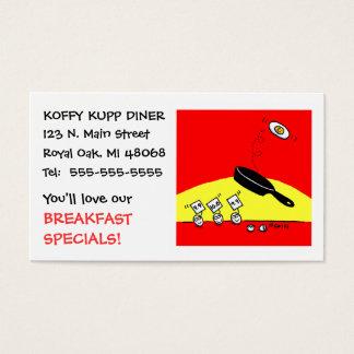 Cartão De Visitas Restaurante engraçado bonito do comensal do