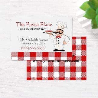 Cartão De Visitas Restaurante italiano