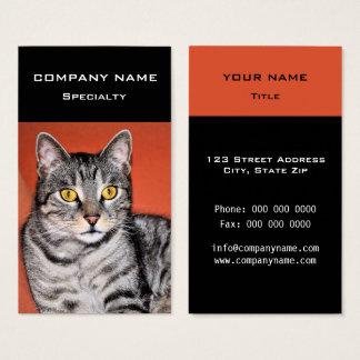 Cartão De Visitas Retrato cinzento bonito do gato