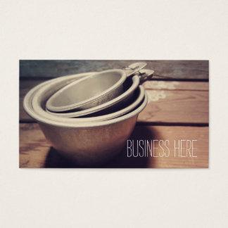 Cartão De Visitas Retro de alumínio dos copos de medição do vintage