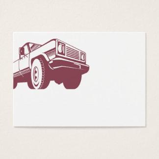 Cartão De Visitas Retro traseiro do camionete