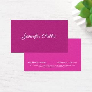 Cartão De Visitas Revestimento cor-de-rosa à moda moderno