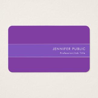 Cartão De Visitas Revestimento de seda macio violeta azul elegante