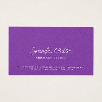 Cartão De Visitas Revestimento superior violeta moderno elegante da