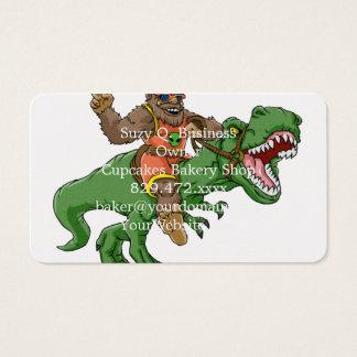 Cartão De Visitas rex bigfoot do rex-T dos bigfoot-desenhos animados