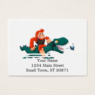 Cartão De Visitas Rex-desenhos animados bigfoot dos bigfoot-desenhos
