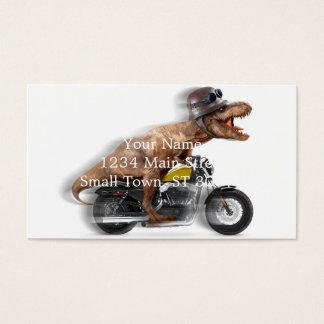 Cartão De Visitas Rex dos motocicleta-tiranossauros-t do rex de T -