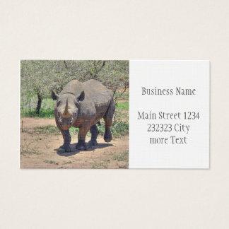 Cartão De Visitas rinoceronte