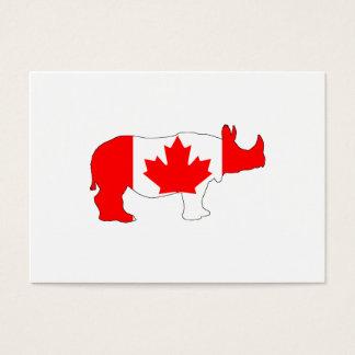 Cartão De Visitas Rinoceronte Canadá