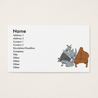 Cartão De Visitas rinoceronte parvo que joga desenhos animados do