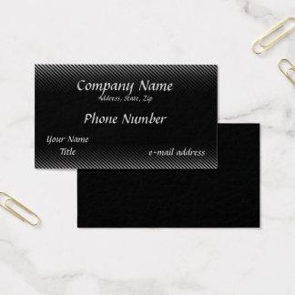 Cartão De Visitas Riscas preto e branco